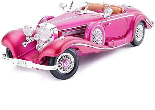 TYZXR Auto Modell Auto 1:18 Mercedes Benz 500K Retro Simulation Legierung Druckguss Spielzeug Ornamente Sportwagen Sammlung Schmuck 29x10.5x7CM