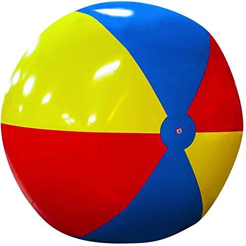 CHEN Pelota de Playa Inflable Gigante de 5 pies, Voleibol de Playa de Color arcoíris, enormes Juguetes Gigantes para Juegos acuáticos, Fiestas de Verano en la Playa y Regalos