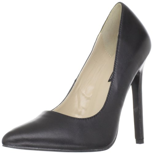 Pleaser SEXY-20 Blk Leather UK 7 (EU 40)