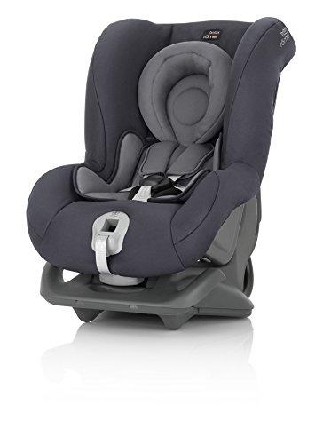 Britax Römer Silla de coche Nacimiento - 4 años, hasta 18 kg, FIRST CLASS PLUS Grupo 0+/1, Storm Grey