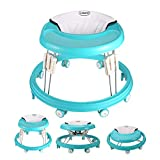 The Foldable Baby Walker, Suitable for 66-80cm Height Wheeled Baby boy and Girl Walker, Mute Anti-Rollover Baby Walker, Avoid Bicycle Rollover, Foldable Baby Chair
