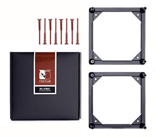 Noctua NA-SFMA1, Adaptores para el Montaje de Ventiladores en Radiadores de Refrigeración Líquida, (2 Unidades, Negro)
