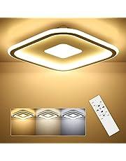 SHILOOK Led-plafondlamp, dimbaar met afstandsbediening