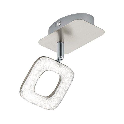 EGLO Spot, staal, geïntegreerd, wit/nikkel-mat