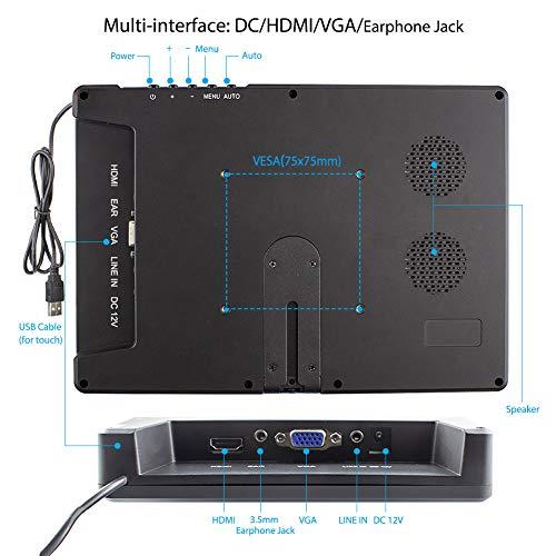 Touchscreen Tragbarer Monitor von ELECROW, 10,1-Zoll kapazitives IPS HDMI Touch Screen Display 1920×1080p mit Eingebaut Lautsprechern für PC/Raspberry Pi/Game Consoles