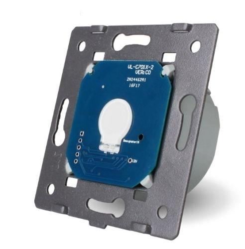 LIVOLO Glas Touch Lichtschalter Funkschalter Steckdosen Wechselschalter uvm in weiß (Modul: Dimmer VL-C701D)