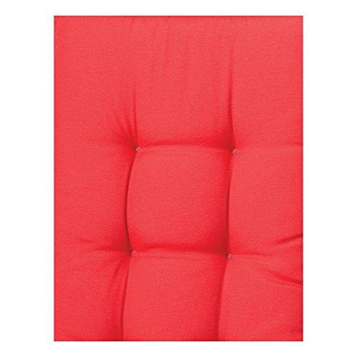Madison 135131 Coussin pour Banc Coton/Polyester/Revêtement Rouge 140 cm