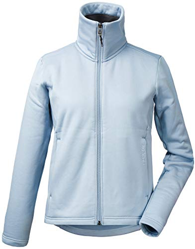 Didriksons Damen Fleecejacke Jacke AMEL WNS Sweater atmungsaktiv elastisch (385 Cloud Blue, 36)