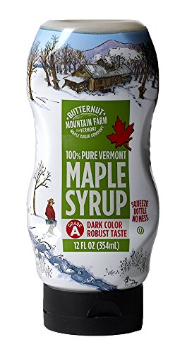 Butternut Mountain Farm Pure Maple Syrup From Vermont Grade A Prev Grade B Dark Color Robust Taste All Natural Easy Squeeze 12 Fl Oz