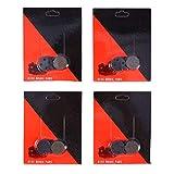 Yosoo Health Gear Pastillas de Freno de Disco, 4 Pares de Repuesto de Pastillas de Freno de Disco de Resina Semi para Bicicleta de Resina