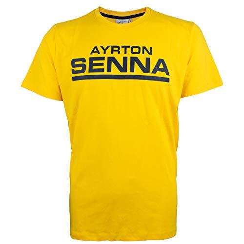 Ayrton Senna T-Shirt Racing Signature gelb