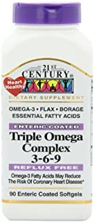 Triple Omega Complex 3-6-9 - 90 softgels,(21st Century) by 21st Century Health Care
