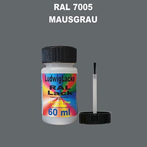 60 ml Lackstift mit Pinsel im Farbton RAL 7005 Mausgrau