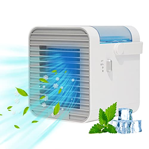 2021 New Portable Air Conditioner, Blast Portable Ac Wіth 3 Fаn Speeds, USB Rechargeable Blast Portable Air Conditioner, Personal Portable AC Fan for Home, Office, Camping Tent