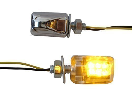 Petit Micro Moto Norme E Chrome Clignotant LED Clignotant Clignotants