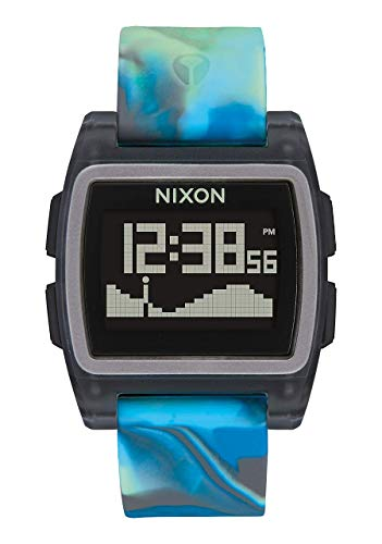 Nixon Herren Digital Uhr mit Silikon Armband A1104-3176-00