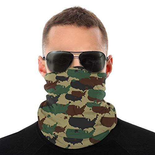 Dingjiakemao Schweißtücher Military Camouflage Pattern Nahtlose Gesichtsmaske Bandanas Halsmanschette Für Männer Und Frauen, Multifunktions-Stirnbandschal Für Staub/Outdoor/Sport