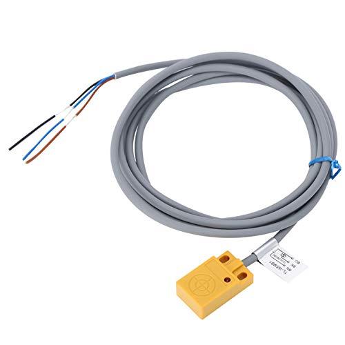 gostcai Interruptor de Sensor de proximidad DC12-24V de 5 mm, Interruptor de proximidad de Tipo inductivo de Metal, para Equipos de Seguridad/Equipos Textiles/máquinas Herramientas CNC