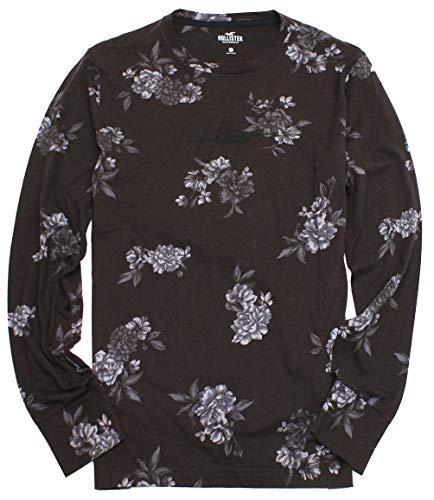 Hollister Men's Long Sleeve Graphic T-Shirt HOM-7 (Large, 0771-908)