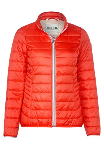 Cecil Damen Leichte Stepp-Jacke cool orange M