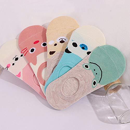 Ba30FRllylelly Cartoon Femmes Filles Chaussettes Chaussettes Chaussettes Invisibles Chaussettes d'été Coton Respirant Bambin Chaussettes Basses