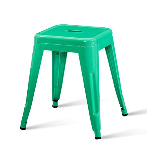 PLL Modern Minimalist Iron Barkruk Fashion Creative Barkruk Table Barkruk Thuis Woonkamer Kleine Bench Volwassene Barkruk Groen