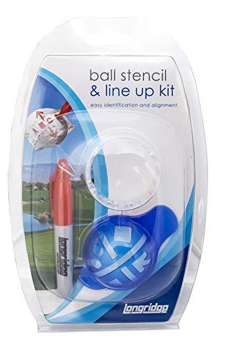Longridge Golf Accessoires Ball ID-sjabloon en lineup kit, wit,