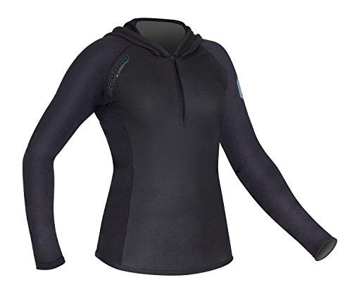Camaro t-Shirt à Manches Longues pour Femme avec Capuche blacktec Sweat-Shirt à Capuche pour Homme S Noir - Noir