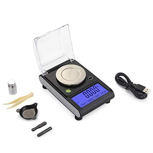Báscula de joyería de precisión, escala de quilates, precisión de 0,001 g, pantalla táctil, balanza electrónica de alta precisión, escala de miligramos