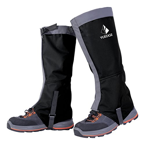 YUEDGE Waterproof Snow Boot Gaiters 600D Anti-Tear Oxford Fabric for Outdoor Hiking Walking Hunting...