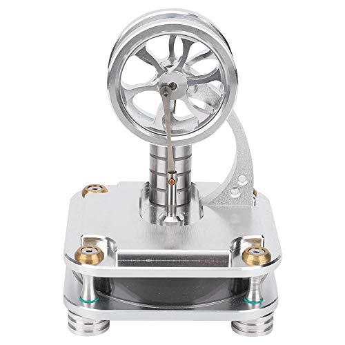 Modelo de motor de stirling tradicional, 105x105x140mm lámpara de alcohol diseño motor motor modelo aleación de aluminio