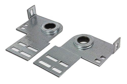 Garage Door End Bearing Plate Residential Bracket - One Pair (L&R)