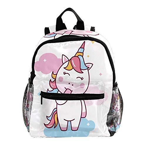 Rucksack 3-8 Jahre Snicker Einhorn Kids Backpack wasserdicht Toddler Kinderrucksack für Vorschule Kindergarten und Reise Baby Wickeltasche 25.4x10x30CM