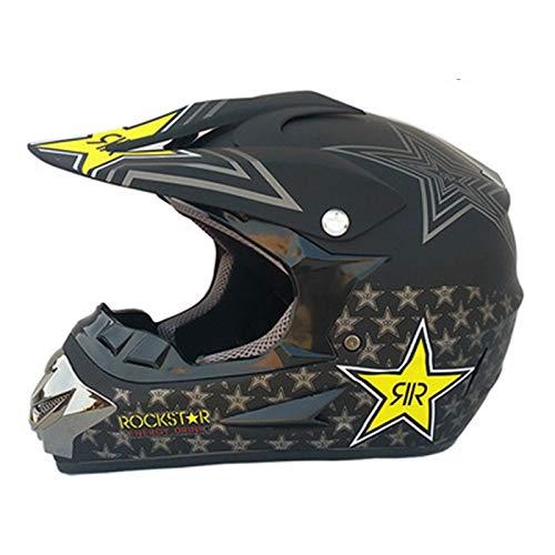 HZIH Casco de Motocross Adulto Motocross Enduro MTB Casco con Gafas de protección, protección Completa, para Moto, Todoterreno, ATV, MTB, Quad 2,M=(56~57CM)