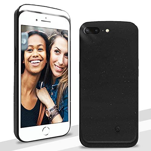 CHBO Funda Selfie para iPhone 7 Plus & iPhone 8 Plus Luces Led Case en Frente,Cover Recargable Batería,[3 Modos de Iluminación] Regulable para Selfie Luz Ideal Selfies, O Vídeo,Live,Make-Up