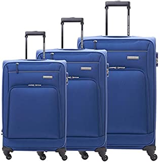 American Tourister Luggage Trolley Bags Set Of 3 Pieces, Navy, 04O41009, Unisex