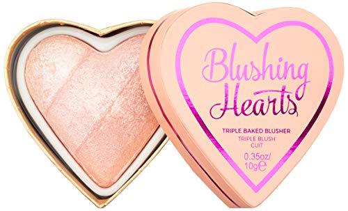 Makeup Revolution I Heart Makeup Blushing Hearts Blush Peachy Pink Kisses Róż do policzków 10g