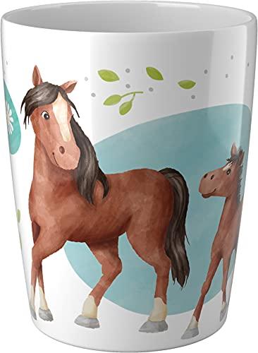 HABA 305697 - Becher Pferde, Geschirr ab 2 Jahren