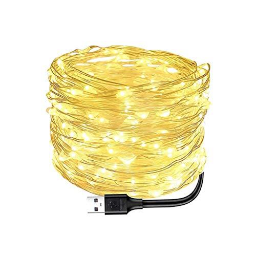 SFNTION Cadena de Luces LED 100 LED Luces Decorativas alimentadas por batería de Hadas, luz de Alambre de Cobre para Dormitorio, Boda