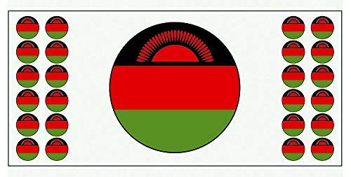 Malawi-Flagge Banner – Poster – Party-Dekoration – Feier – Event – Weltmeisterschaft (2 Stück)
