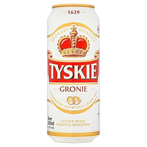 Tyskie Bier 24 x 500ml (Packung mit 24 x 500 ml)