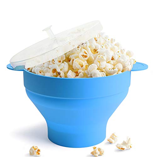 Review Microwave Popcorn Popper, HIPPIH 100% BPA Free Silicone Popcorn Maker with FDA approved, Coll...