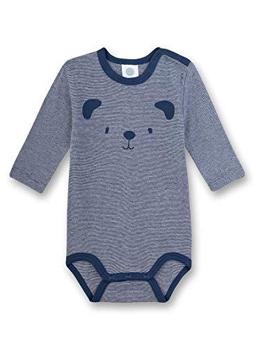 Sanetta Baby-Jungen Langarmbody Spieler, Blau (blau 5193), 80 (Herstellergröße:080)