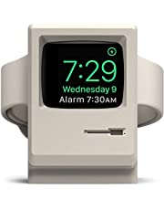 elago W3 Apple Watch Standaard Laadstation Houder Compatibel met Apple Watch Series 5/4 / 3/2 / 1 alle Apple Watch - Dockingstation, Nightstand Mode, 1984 Macintosh Design (Klassiek Wit)
