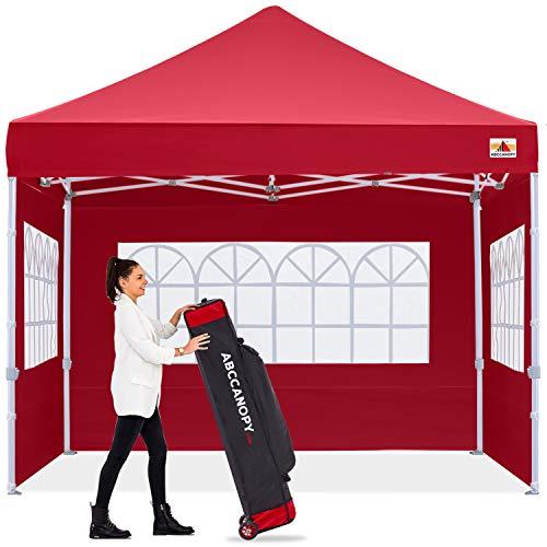 ABCCANOPY Outdoor Gazebo Oversized Party Tent,Premium Pop Up Tent with Elegant Church Window, Bonus Wheeled Bag,Burgundy
