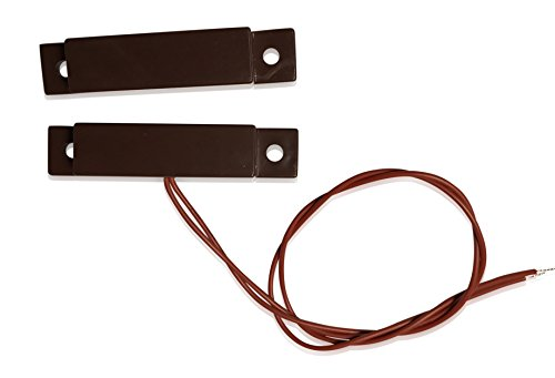 """3 pcs Brown Wired Door Contacts Surface Mount NC Security Alarm Door Window Sensors.These ¾"""" Door Contact Position switches (DCS) Work with All Access Control and Burglar Alarm Systems"""