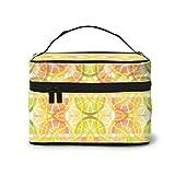 Bolsas de cosméticos Citrus Slices Wallpaper 4255(3857) Pattern Portable Travel Makeup Cosmetic Bags Organizer Makeup Boxes for Women Travel Daily Carry