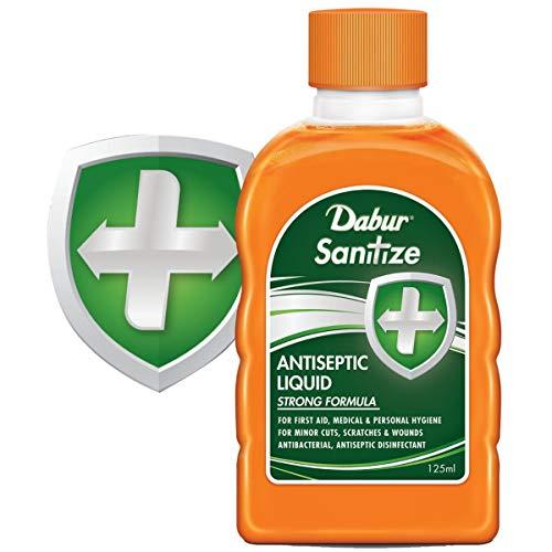 Dabur Sanitize Antiseptic Liquid Strong Formula 125 ml