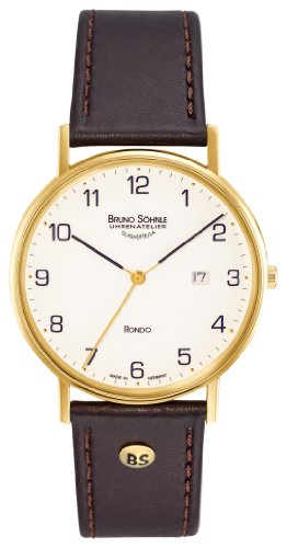 Bruno Söhnle Herren Analog Quarz Uhr mit Leder Armband 17-33105-921