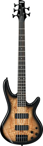 IBANEZ GIO Serie E-Bass 5 String - Natural Gray Burst/Decke gestocktes Ahorn (GSR205SM-NGT)